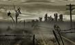 Leinwandbild Motiv The illustration on the theme of the apocalypse
