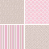 set of pastel seamless patterns