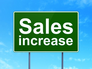 Marketing concept: Sales Increase on road sign background