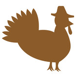 Isolated Turkey. Vector eps8/clip art