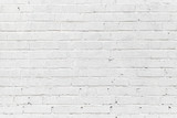 White brick wall. Seamless photo background texture