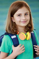 Back to school - lovely young schoolgirl