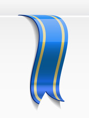 Blue bookmark decoration ribbon