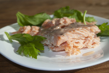 salmon grilled fillet