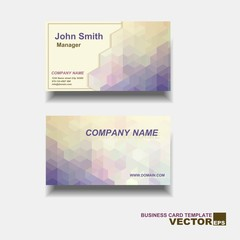 Abstract creative business cards (vector, set template)