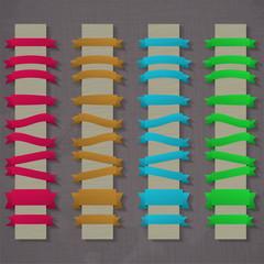 Vector set of retro ribbons