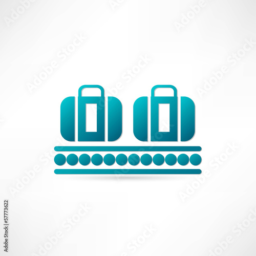 luggage plane icon
