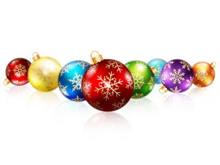 Isolated christmas balls