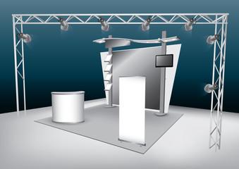 Blank trade exhibition display