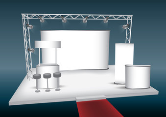 Blank trade exhibition display