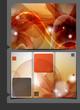 Orange Template For Advertising Brochure.