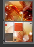 Orange Template For Advertising Brochure.