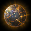 Exploding Earth globe