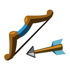 Bow and arrow isolated illustration