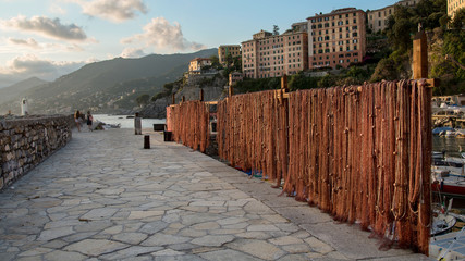 fishing nets, Camogli in Liguria