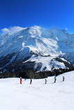 France - Mont-blanc (cours de ski au Prarion)