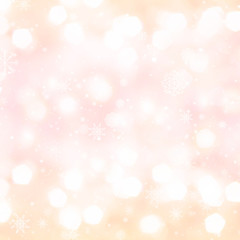 Golden Abstract Christmas background with glowing magic bokeh an
