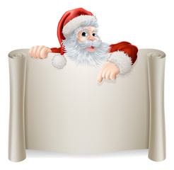 Christmas Vintage Santa Sign