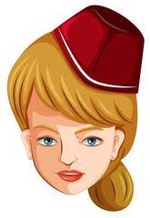 A head of a flight attendant
