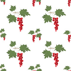 Red currant seamless pattern