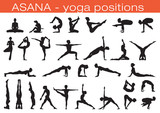 Fototapety yoga positions
