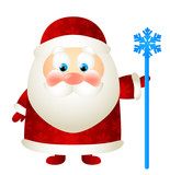 Cute Santa with magic stick