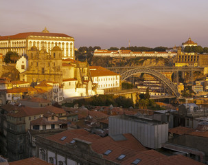 North side of Porto at evening