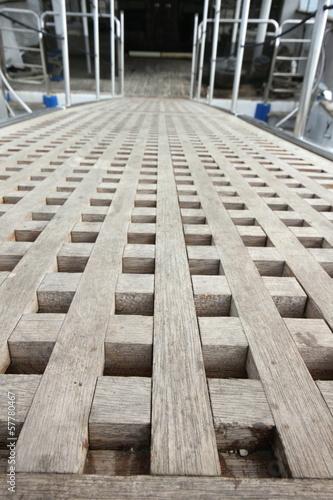 Wooden Ship Gangplank