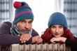 Winter Paar heizen