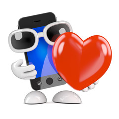 Smartphone is in love