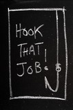 Hook That Job Blackboard Concept