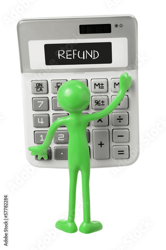 Calculator and Miniature Figure