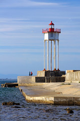 Port-Vendres jetty and lighthouse