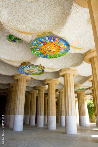 Hall of 100 columns, Parc Guell, Barcelona - 57782635