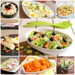 Assortment of salads recipes