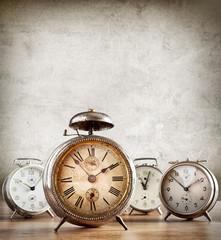 Old alarm clocks