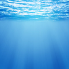 underwater background blue