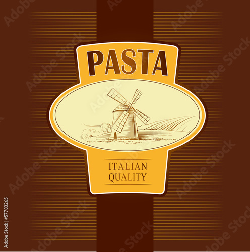 spaghetti. pasta. mill. labels, pack for spaghetti, pasta