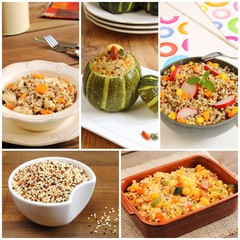 Assortment of Quinoa recipes