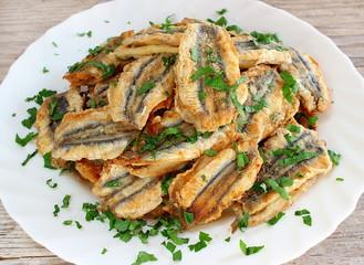 Alici impanate fritte