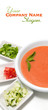 Refreshing gazpacho soup