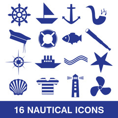 nautical icon collection eps10