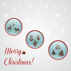 Christmas card with Xmas buttons