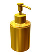 golden soap or cream dispenser