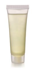 Transparent plastic cosmetics tube