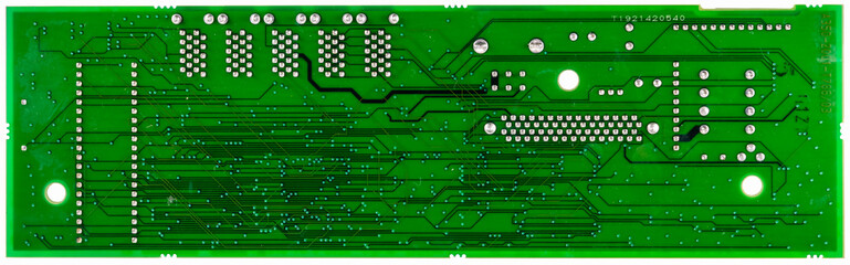 green circuit board of computer