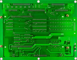 printed green computer circuit board