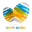 Happy Easter vector, Orange, Green and blue eggs