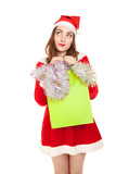 Picture of woman with new year shopping bag