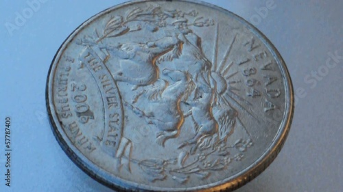 united states of america quarter dollar coin spin